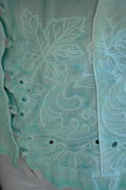Camasa de vara, de culoare turcoaz, ajustabila cu snur in spate