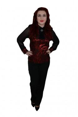 Poze Pantalon la moda, de culoare neagra, material lucios