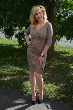 Rochie de ocazie, din saten, de culoare gri