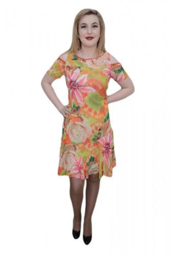 Poze Rochie deosebita, nuanta de multicolor, usor evazata jos