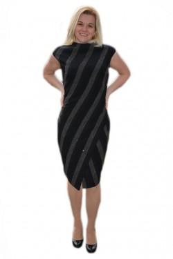 Poze Rochie feminina cu croiala cambrata, nuanta neagra, masura mare