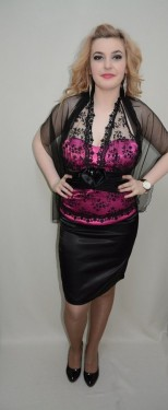 Rochie tinereasca, nuanta de roz, dantela rafinata atasata