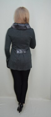 Bluze cu maneca lunga, nuante de gri, si saten negru