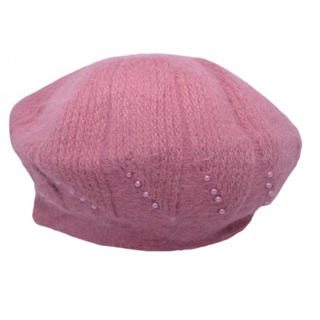 Poze Caciula Ella fashion calduroasa cu insertii de strasuri ,nuanta de roz