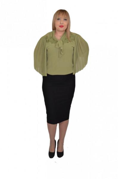 Poze Fusta dama conica cu insertii de strasuri ,nuanta de negru