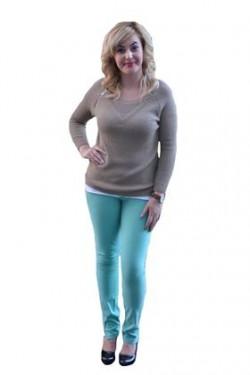 Poze Pantaloni femei, de culoare turcoaz PA-093-TU