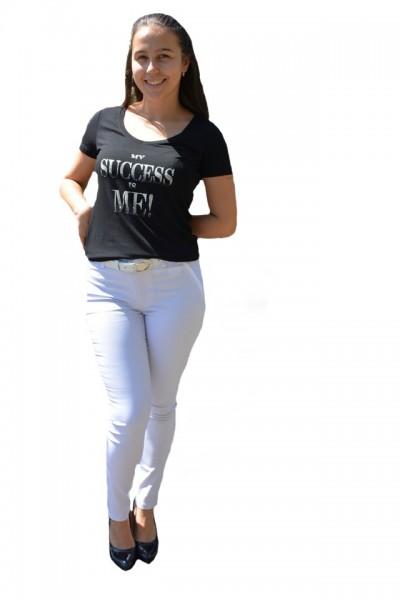 Poze Pantaloni Ximena lungi,nuanta de alb