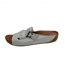 Poze Papuc deosebit, alb, cu platforma medie, foarte comod