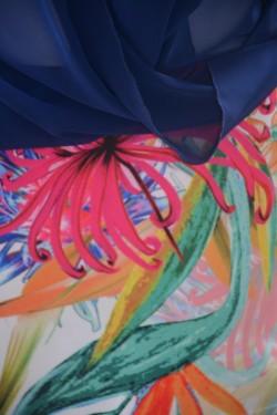 Rochie eleganta,rafinata cu suprapunere de voal in V