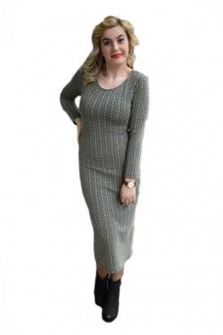 Poze Rochie fashion cu model tineresc pe corp, cu fir auriu in tesatura