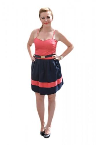 Poze Rochie feminina de vara, casual, bicolora