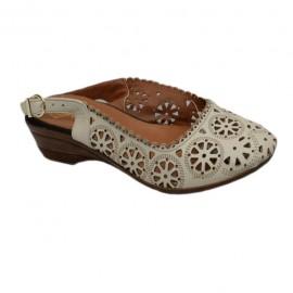 Poze Sanda clasica, model casual cu talpa plina, medie, varf inchis