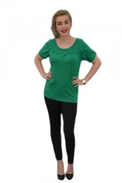 Poze Tricouri casual, design deosebit in zona bustului, verzi