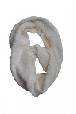 Esarfa rafinata de iarna cu forma circulara, de culoare alba