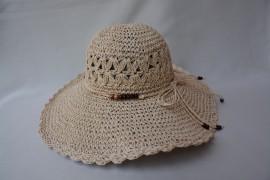 Palarie subtire de vara, din material natural, nuanta de crem
