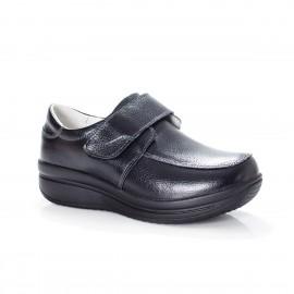 Poze Pantof de toamna, primavara, de culoare neagra, cu talpa groasa