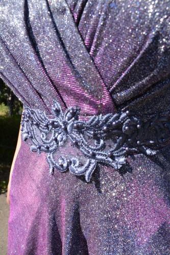 Rochie de seara,model lung de culoare mov