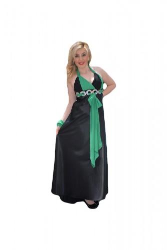 Poze Rochie eleganta lunga, culoare negru-verde,