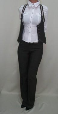 Vesta casual, de culoare maro, model tineresc cu design aparte
