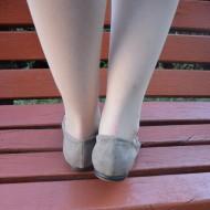 Balerini, tineresti, de culoare bej, cu talpa joasa