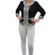 Bluza cu maneca lunga, model elegant, scurt pana in talie
