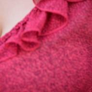 Bluza dama, de culoare roz, buline marunte negre, masura mare