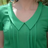 Bluza din material subtire de vara, masura mare, culoare verde