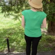 Bluza subtire, tinereasca, cu maneca scurta, nuanta verde