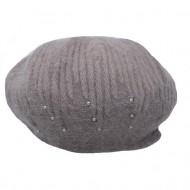 Caciula Ella fashion calduroasa cu insertii de strasuri ,nuanta de maro