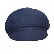 Caciula rafinat cu design de cozorog, nuanta de bleumarin