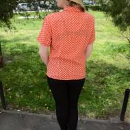 Camasi cu maneca scurta, croi drept, de culoare portocalie