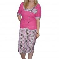 Costum dama, de ocazie, multicolor, din material pepit deosebit