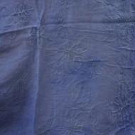 Esarfa in tendinte de culoare albastra cu model floral brodat