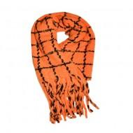 Fular dama Dalma ,model cu patratele,portocaliu