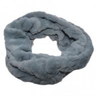 Fular Lenna din blanita ,model circular,gri inchis
