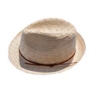 Palarie casual-eleganta, material textil, design de snur maro,