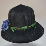 Palarie de dama cu forma clasica, rotunda, culoare neagra