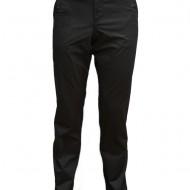 Pantalon barbati, bumbac de nuanta gri inchis, cu model de dungi