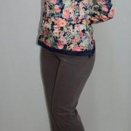 Pantalon elegant cu cusaturi, model clasic, de culoare maro