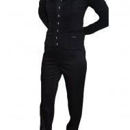 Pantalon negru, buzunare laterale, inchidere cu fermoar
