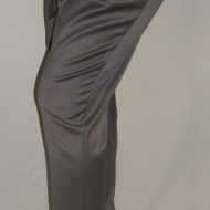 Pantaloni casual din saten de culoare gri
