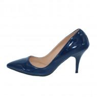 Pantof stiletto, de culoare bleumarin, cu toc cui inalt de 9 cm