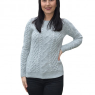 Pulover tricotat Jenny ,model deosebit,3D ,gri