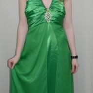 Rochie chic, nuanta de verde, detaliu argintiu deosebit