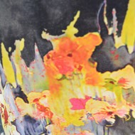 Rochie cu imprime floral de culoare multicolora