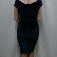 Rochie de ocazie, de culoare neagra, design din catifea fina