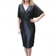 Rochie de seara Ynez cu aplicatii de margele,nuanat de negru