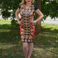 Rochie de vara, casual, imprimeu multicolor