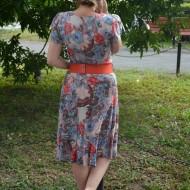 Rochie de vara masura mare cu imprimeu floral multicolor