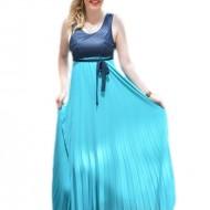 Rochie eleganta, de culoare albastru-bleumarin